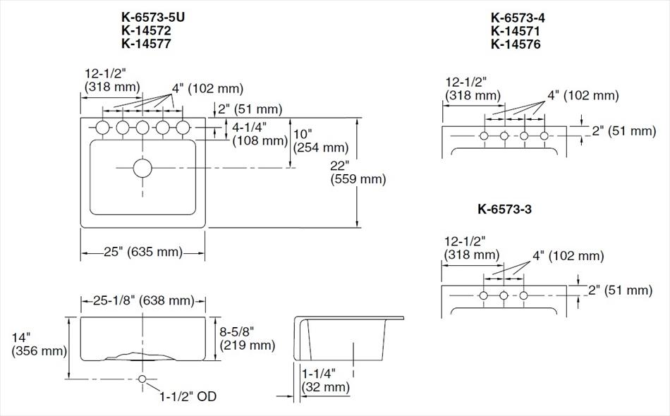 陶器シンク Alcott/Interlace オルコット/インターレース K-14572-FC