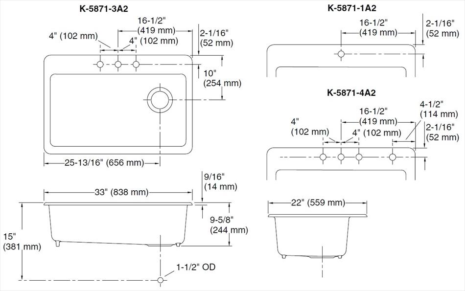鋳物ホーローシンク Riverby リバビー K-5871