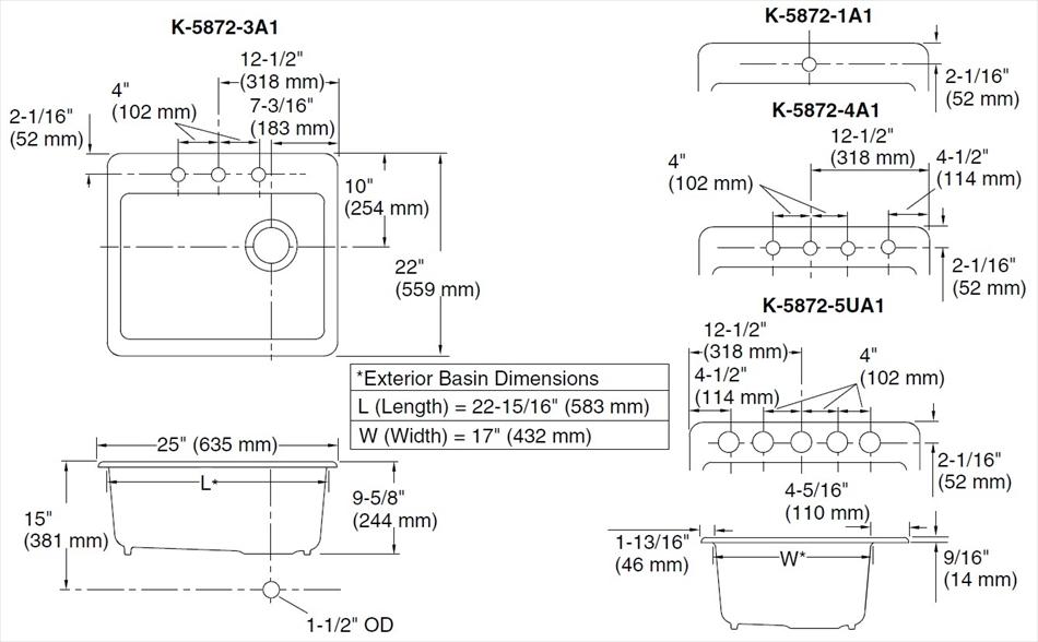 鋳物ホーローシンク Riverby リバビー K-5872