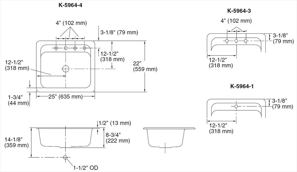 鋳物ホーローシンク Mayfield メイフィールド K-5964