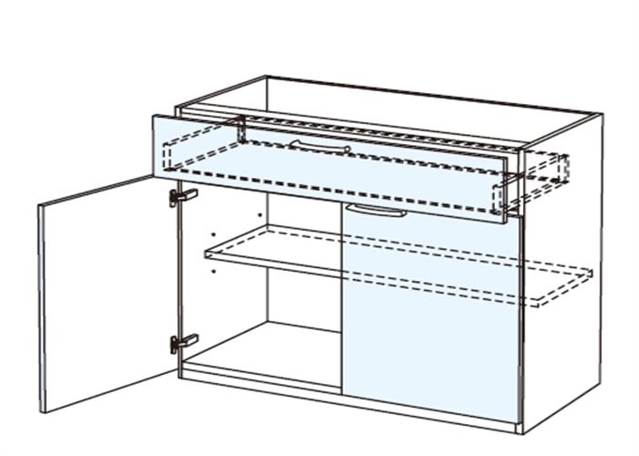 トールキャビネット 食器戸棚上部ユニット JTCBSF-90*★