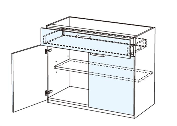 トールキャビネット 食器戸棚上部ユニット JTCBSF-60B*★