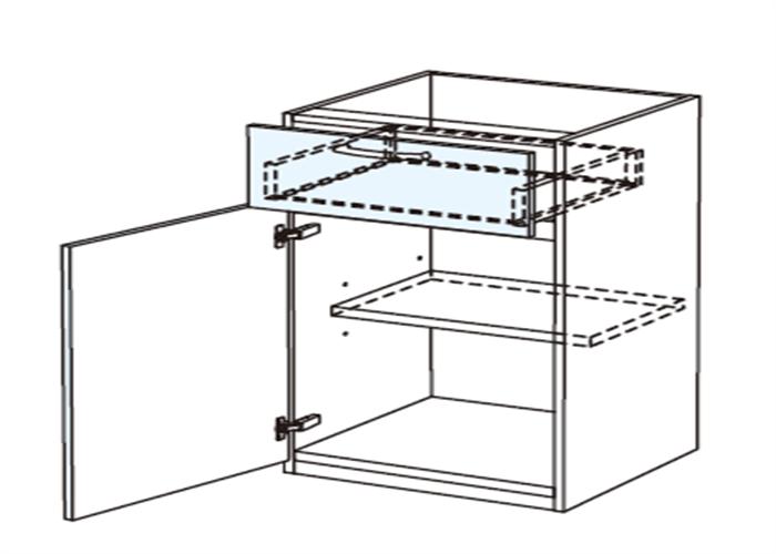 トールキャビネット 食器戸棚上部ユニット JTCBSF45*★L/R