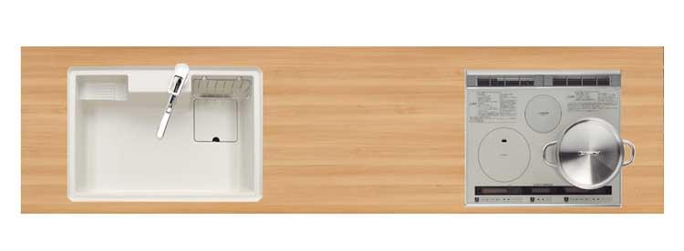 木彫積層メラミンワークトップ