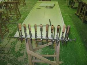 人工大理石木口化粧加工