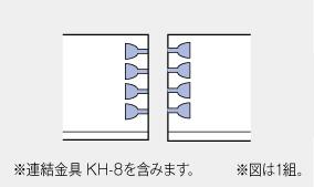 メラミン:連結座ぐりカット