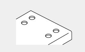 メラミン:サポート手摺取付穴加工