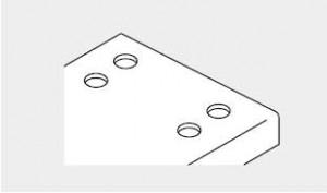 サポート手摺穴加工人工大理石加工