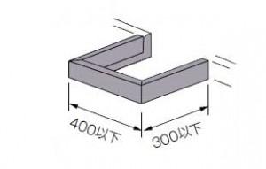 カウンター柱欠きバクガード付人工大理石加工