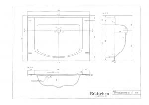 洗面器一体カウンターCT750寸法図