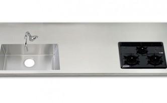 ステンレスワークトップワイド+スクェアシンク800BKセット