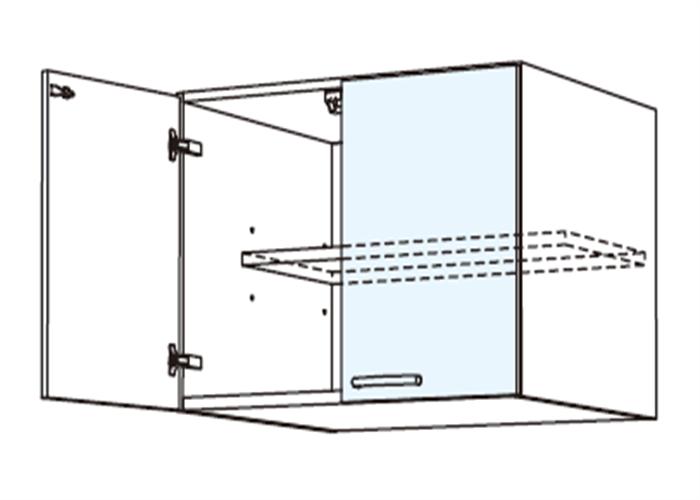 トールキャビネット 冷蔵庫上置戸棚 JSD-75*★T