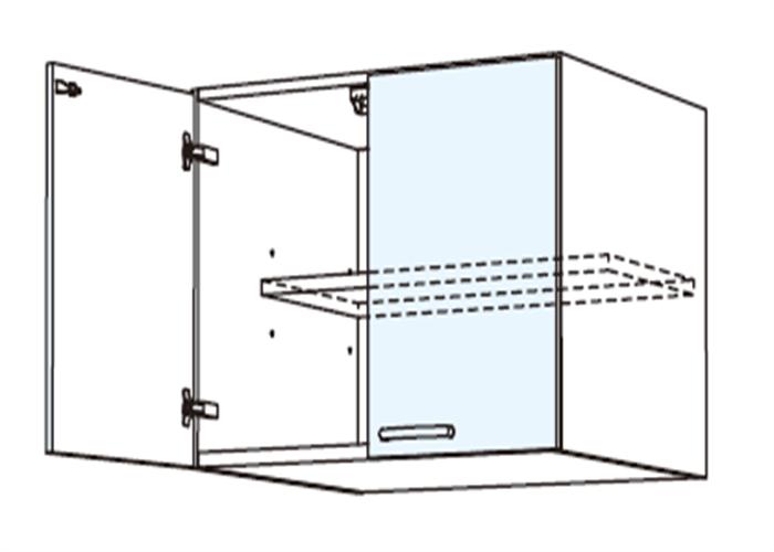 トールキャビネット 冷蔵庫上置戸棚 JSD-60*★T
