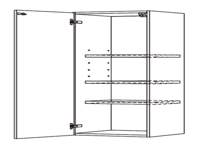 トールキャビネット 食器戸棚上部ユニット JTCBU-45F*★L/RT