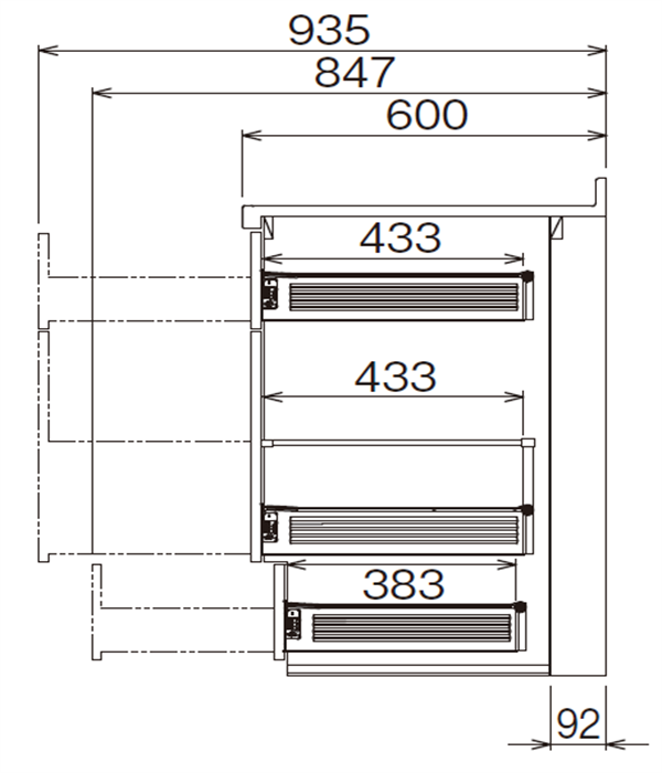 ベースキャビネット 調理キャビネット JBTFM-50DR*★