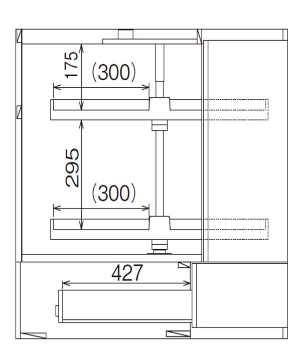 ベースキャビネット コーナーキャビネット JDA-CLFS90B*L/R
