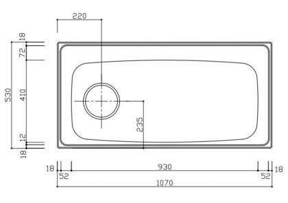 A1mm1070-530S寸法図