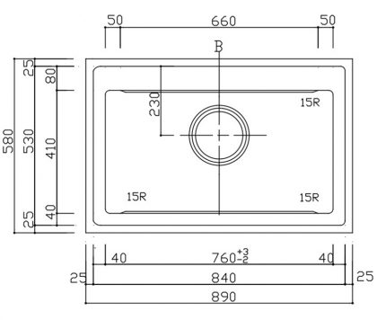 A1mm890-580S-XV1L寸法図