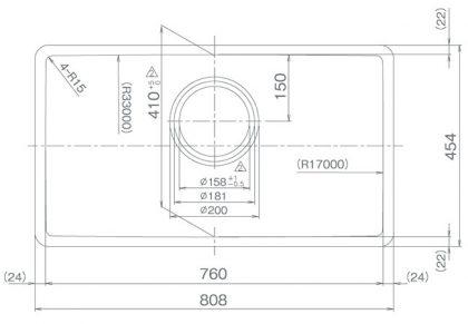 COMO-S15R寸法図