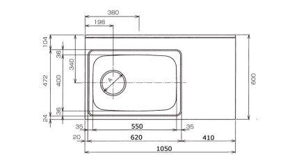 CKG-1050寸法図