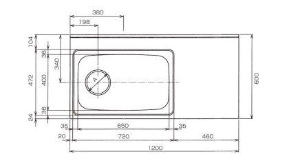 CKG-1200寸法図