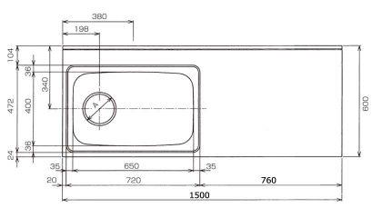CKG-1500寸法図