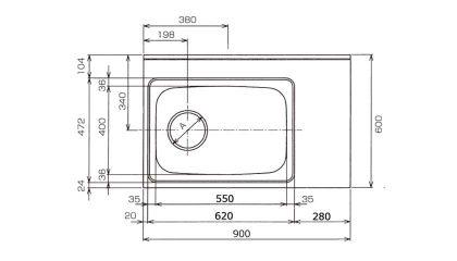 CKG-900寸法図