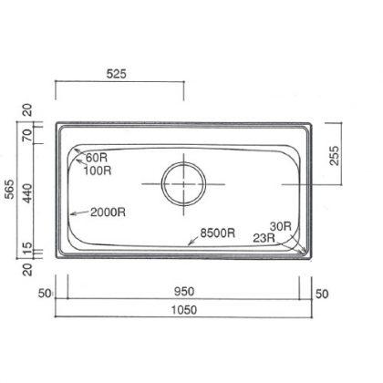 HLmm1050-565S寸法図