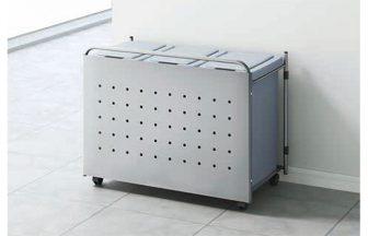 HOU-J55金属扉付ゴミ箱ワゴン