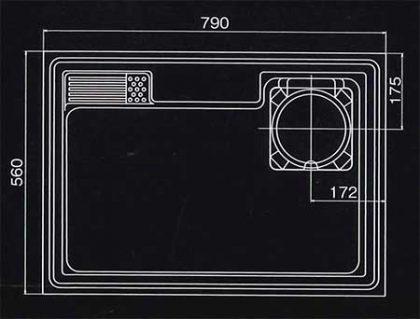ハイパーシンクHS800寸法図