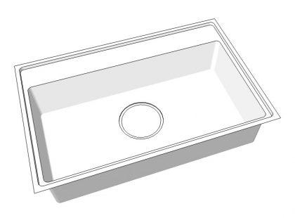 ステンレス手板金シンクSQ-SDK-DAN 水栓デッキ段付き