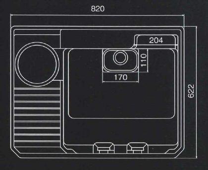 UHS820寸法図