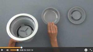 排水トラップ部品の取付方法