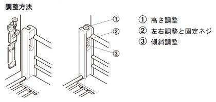 HAFELE スライドバスケット 扉固定 ワイヤーバスケット付 調整方法