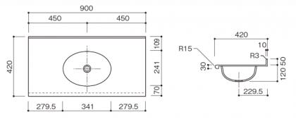 BHS-210寸法図