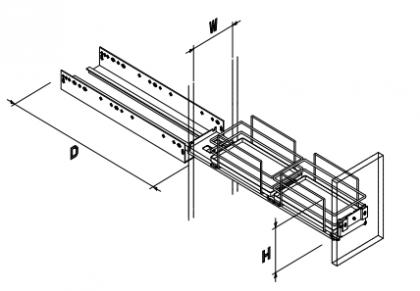スパイスキャリィ ソフトクローズタイプ 小引出し OTS-SPC-110_120A (3)