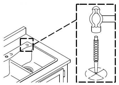 KOHLERコーラーオーバーシンク取付方法06