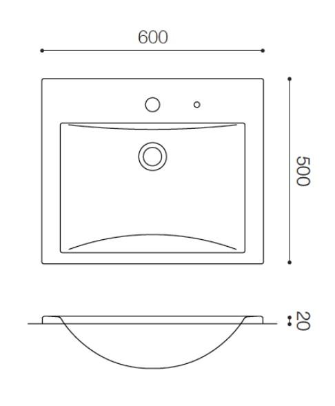 Fabbrica SR5060 ファッブリカヨシモト 洗面ボウル ホワイト 人工大理石 吉本産業