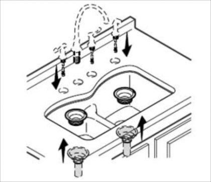 10アンダーマウントシンク設置方法