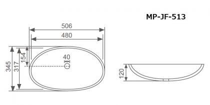 HF-513寸法図