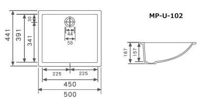 MP-U-102寸法図