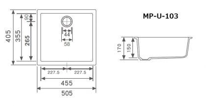 MP-U-103寸法図