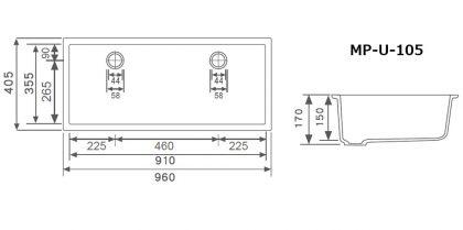 MP-U-105寸法図