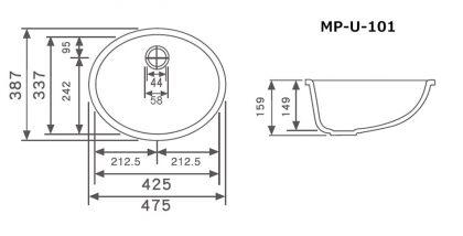 MP-U-101寸法図