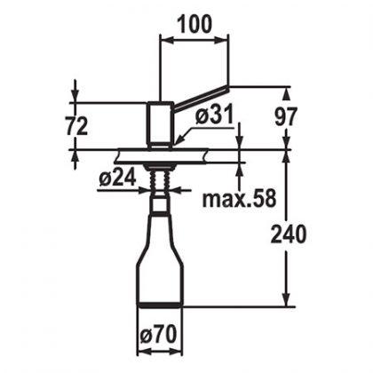 KWC INOX Z536062ソープディスペンサー寸法図