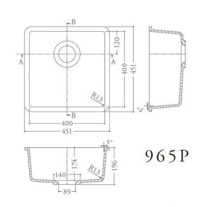 965P寸法図