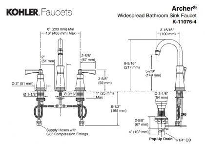 K-11076-4 Archer アーチャー 洗面水栓 KOHLER