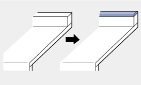 メラミン:バックガード上部木口共貼り