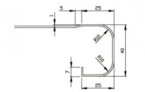 前垂れ寸法:アール型(水返し有)