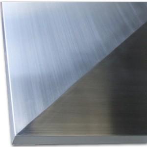ステンレスヘアーライン45°L型溶接部